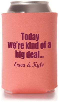 Best Selling Wedding Can Cooler Templates - Inexpensive Wedding Favors! #wedding #koozies #favors I LOVE THIS!