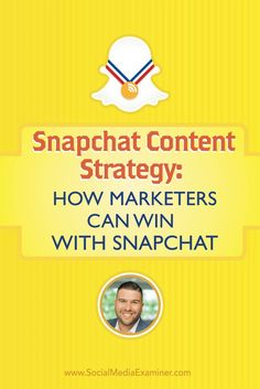 Are you on Snapchat? Want to know how to use it for marketing? To discover how to create a content strategy on Snapchat, Michael Stelzner interviews @carlosgil83.