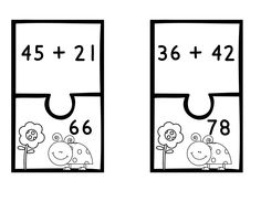 Addition and Subtraction puzzle center- perfect for small groups or independent centers!