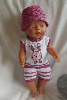 Letní overal s králíčkem & Zboží prodejce Ratinka Baby Born Clothes, Pet Clothes, Best Baby Doll, Baby Dolls, Crochet Doll Clothes, Knitted Dolls, Baby Born Kleidung, Bear Doll, Bitty Baby
