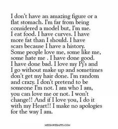 I am who i am for me