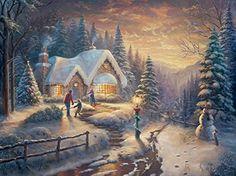 Ceaco Thomas Kinkade Country Christmas Homecoming Puzzle ...