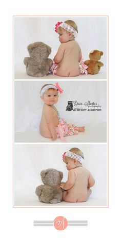 Ideas photography baby 6 months teddy bears for 2019 6 Month Photography, Newborn Baby Photography, Newborn Photos, Pregnancy Photos, Children Photography, Food Photography, Toddler Poses, Baby Poses, Baby Shots