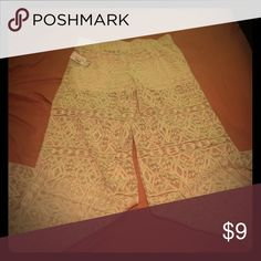 Lace Pants New with tags! Wide leg lace pants they are see through with shorts attached. Size medium. Pants Wide Leg