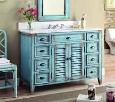 One Allium Way Annabella Single Bathroom Vanity Set Bathroom Vanity Cabinets, Single Bathroom Vanity, Vanity Sink, Bathroom Furniture, Gold Bathroom, Stairs In Living Room, Bentonite, Interiores Design, Blue Bathrooms