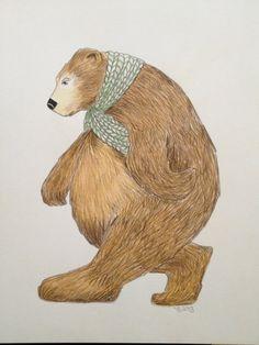 Bear Illustration ... The Determined Bear An original by banham