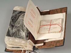 Book journal, artist journal, art journals, old books, bookbindin Book Art, Up Book, Artist Journal, Journal Pages, Altered Books, Altered Art, Alphabet Tag, Book Libros, Buch Design