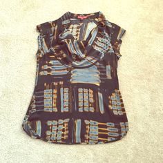 NWT Anthropologie top sz med Adorable light weight top by one September ! Ruffled blouse neckline. Silky feel , fabric is 100% polyester Anthropologie Tops