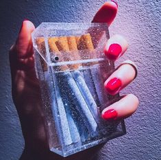 Bad Habitz ~ Clear or Glitter Cigarette, Business Card or Wallet Acrylic Box Holder Boujee Aesthetic, Bad Girl Aesthetic, Aesthetic Collage, Aesthetic Vintage, Aesthetic Pictures, Acrylic Box, Acrylic Nails, Pink Cigarettes, Cigarette Aesthetic