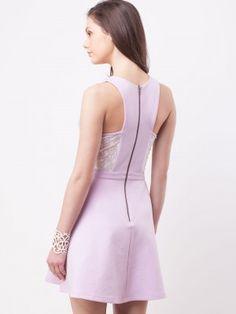 KOOVS Bustier Lace Detail Skater Dress