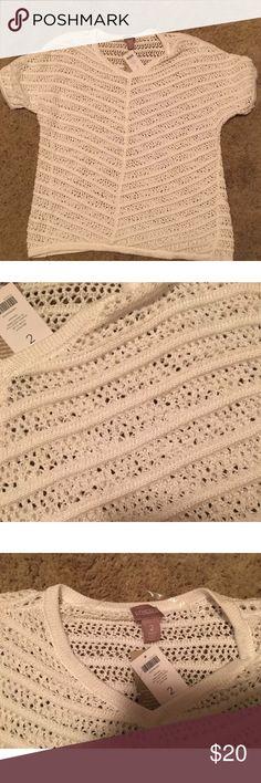 Chico's sweater NWT! Cream Chico's sweater in perfect new condition.  Chico's size 2 (size 12) Chico's Sweaters