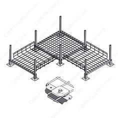 Raised Floor Cable Tray System from Access Cable Trays - CableOrganizer.com