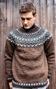 Men in Sweaters Nordic Sweater, Men Sweater, Norwegian Knitting, Country Attire, Icelandic Sweaters, Fair Isle Knitting, Lakme Fashion Week, Mens Jumpers, Winter Outfits Women