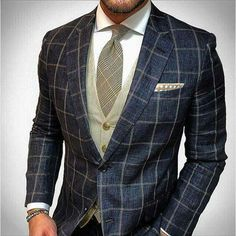 navy jacket with moss vest and taupe tie http://www.99wtf.net/men/mens-fasion/latest-mens-suit-style-fashion-2016/