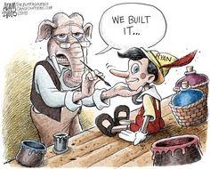 Adam Zyglis - The Buffalo News - We Built It Color - English - paul ryan, gop, we built it, rnc, republican, national, convention, lies, speech, vice president, distortions, politics, attacks, white house, race, election, 2012
