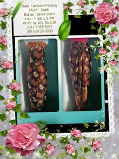 Kain Fashion Printing Motif : Batik Bisa Reques Ukuran & Menerima Pesanan Seragam Ket & Order : Lihat di foto