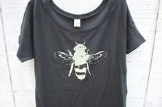 It must bee...    Women Tshirt  Honey Bee  Grey Alternative Apparel  by naturwrk, $26.00