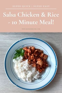 Salsa Chicken and Rice - Renee's Blend