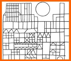Paul Klee, free coloring book (line and shape), arTree