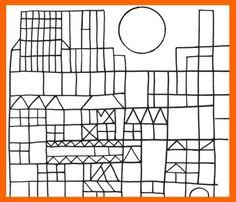 castillo de paul klee para colorear - Buscar con Google