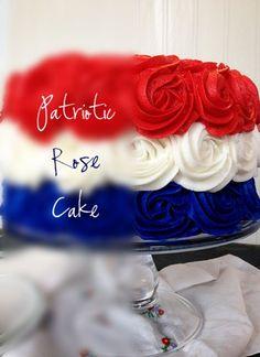 PATRIOTIC ROSE CAKE {VIDEO TUTORIAL}