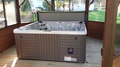 Here is a Master Spas Legacy Spa installed in a gazebo.