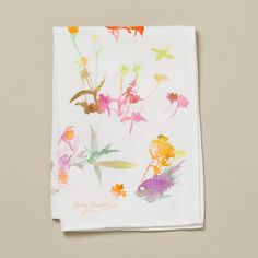 Watercolor Flora Tea Towel in House+Home KITCHEN+DINING Linens at Terrain