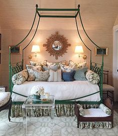 Decorating small spaces can be challenging, but see how a dream team of design pros did it at the recent Cashiers Designer Showhouse. Awesome Bedrooms, Beautiful Bedrooms, Small Scale Furniture, Atlanta Homes, Decorating Small Spaces, Decoration, Bedroom Decor, Bedroom Ideas, House Design