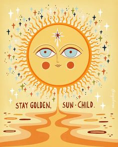 Manifestation Law Of Attraction Discover Stay golden Mini Art Print by Asja Boros - Without Stand - x Photo Wall Collage, Picture Wall, Happy Words, Hippie Art, Grafik Design, Aesthetic Art, Aesthetic Yellow, Aesthetic Fashion, Art Journal Pages