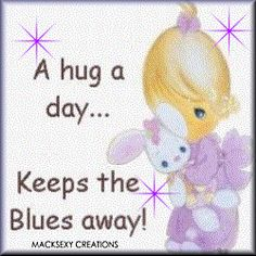 hug a day Hugs And Kisses Quotes, Hug Quotes, Moment Quotes, Daily Quotes, Hug Pictures, Moving Pictures, Precious Moments Quotes, Hug Images, Sending Hugs