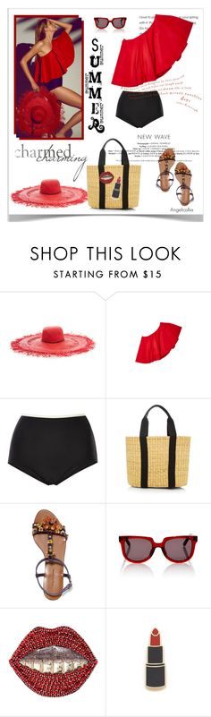 """charming summer"" by angelicallxx ❤ liked on Polyvore featuring Viva Aviva, Solid & Striped, Muuñ, Dolce&Gabbana, Gucci, Georgia Perry and strawbags"
