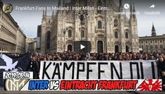 I tifosi dell'Eintracht Francoforte invadono Milano - VIDEO I TIFOSI DELL'EINTRACHT FRANCOFORTE INVADONO MILANO: sono oltre 13mila i tifosi tedeschi che prima di recarsi a San Siro per la partita con l'Inter si sono radunati in centro a Milano. Al momento la situazione è tranquilla. Le forze dell'ordine, mobilitate in gran numero, controllano la situazione da vicino. Gli ultrà vestono i colori (bianco, nero e rosso) della squadra e sono molto agguerriti.  #video #ultras #ti Frankfurt, Europa League, Milano, Video, Broadway Shows