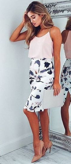 #summer #showpo #label #outfits | Nude + Floral