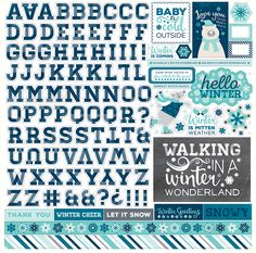 Echo Park - Hello Winter Collection - 12 x 12 Cardstock Stickers - Alphabet at Scrapbook.com