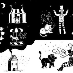 Here's a lil notebook cover I've been working on, it had to be based on a story and the design had to be made up of only black and white, my story that I chose is actually a song by Kevin Devine called carnival which I chose because I absolutely love it 😍  Lions are hard to draw.    #carnival #kevindevine #illustration #digitalart #blackandwhite #lion #spooky #halloween