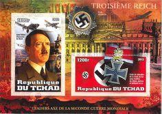Chad Wwii Adolf Hitler ON Stamps 2 Stamp Mint Sheet 3B 220 | eBay
