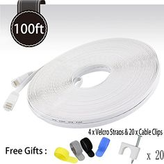 Cat 6 Ethernet Cable White 100ft (At a Cat5e Price but Hi... https://www.amazon.com/dp/B017P34W6C/ref=cm_sw_r_pi_dp_qsyNxbA2GYJS2