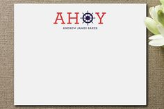 Ahoy Children's Personalized Stationery, by Palm Papers on Minted.com. #minted #nautical