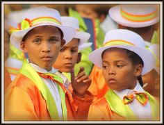 Kaapse Klopse or  (Cape Town Minstrel Carnival) participants in Cape Town, South Africa