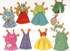 """"""" Vintage Disney Alice in Wonderland Printable Paperdolls (x) """""""