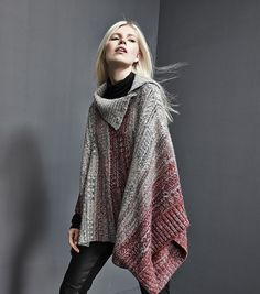 Free People diamond-knit poncho