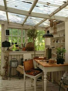 "This has the same room as on the play house. Pinned because maybe that would be okay for the garden ""greenhouse"" area."