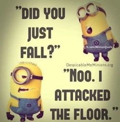 "Top 40 Funny Minion Quotes and Pics citat, funny, haha. 'Did you just… - Top 40 Funny Minion Quotes and Pics citat, funny, haha. ""Did you just… – funny mini - Minion Humour, Funny Minion Memes, Minions Quotes, Jokes Quotes, Funny Humor, Memes Humor, Hilarious Jokes, Fun Funny, Funny Food"