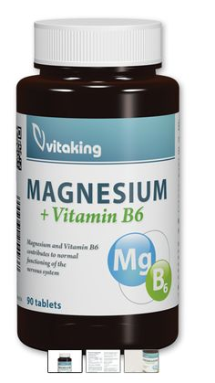 KAMU AKCIÓ - MAGNÉZIUM CITRÁT+B6 VITAMIN – VITAKING (90) - Akcióláz foka 24 - Kedvezmény mértéke 5% - www.akciolaz.hu Magnesium Vitamin, Vitamins, Container, Vitamin D