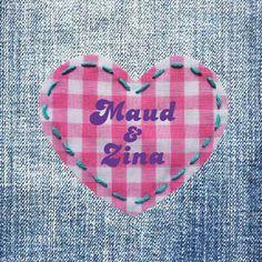 Spijkerstof, jeans geboortekaartje voor tweeling meisjes | birth announcement card twins | twin girls jeans card