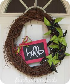 cute summer wreath