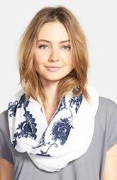 Accessories 212 Floral Embroidered Infinity Scarf
