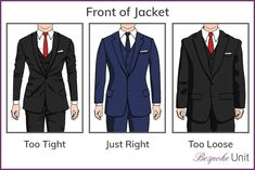 The Bespoke Unit team explains in detail the different parts of a tailored jacket and how each part is supposed to fit. Best guide to men's suits. Mens 20s Fashion, Suit Fashion, Fashion Guide, Fashion Vintage, Fashion Boots, Mens Suit Fit, Mens Suits, Tailored Jacket, Suit Jacket
