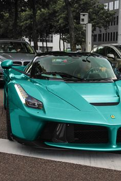 Ferrari in an unexpected color.