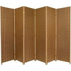 Red Lantern Two Tone Brown Cellulose Fiber Folding Indoor Privacy Screen at Lowe's. A hand crafted decorative floor screen with a brown and tan checkerboard design. Crafted with lightweight wood frames and reinforced by the interwoven Floor Screen, 4 Panel Room Divider, Divider Screen, Folding Room Dividers, Oriental Furniture, Kiln Dried Wood, Red Lantern, Vinyl Flooring, Laminate Flooring